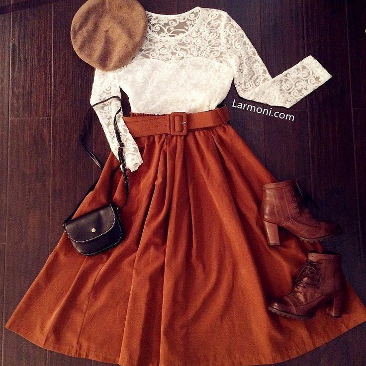Retro High Waist Midi Skirt The Art Of Vintage Inspired Cute Women S Clo Fashion Skirts Midi High Waisted Modest Outfits