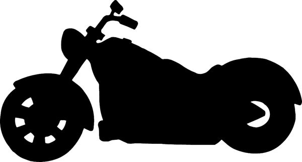 Motorcycle Silhouette vinyl sticker. Personalize on line. motorcycleM042