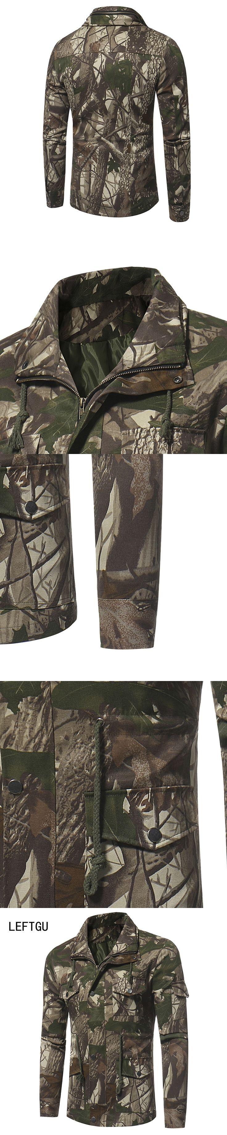 LEFTGU 2017 Autumn Jacket men jungle camouflage coat Outdoors military style Clothes JK8S