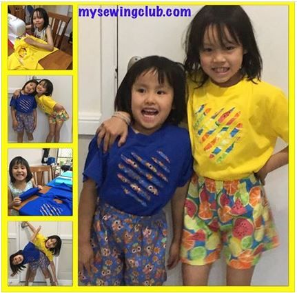 How cute do these PJ's look. My two littlest private students were so excited to finish sewing their PJ's. They did an amazing job, and their sewing is improving so much. They used rib trim for the first time and put in a sleeve and had so much fun swing the appliqué. Well done you should be so proud of yourselves. Cheers Fee, mysewingclub.com