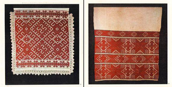 SALE 20% BOOK Romanian Folk Towels / peasant ethnic embroidery / handwoven textile / Transylvania