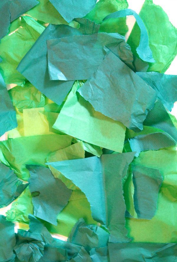 Tissue Paper Apple Art