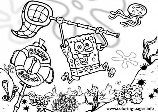 Coloring Pages For Kids Spongebob Cartoon