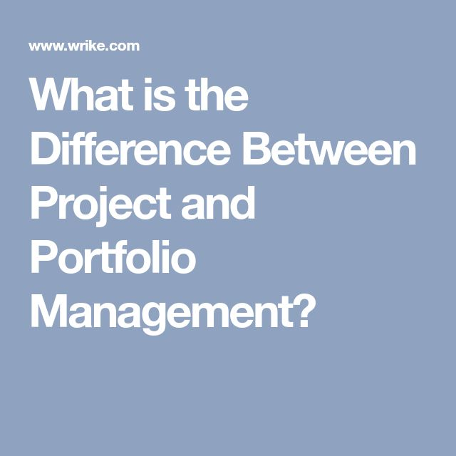 What is the Difference Between Project and Portfolio Management?