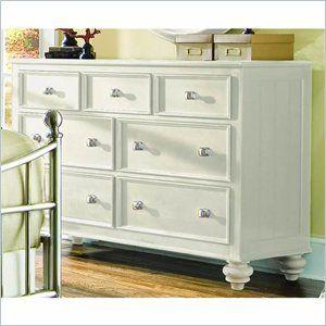 American Drew Camden 7 Drawer Double Dresser in Buttermilk