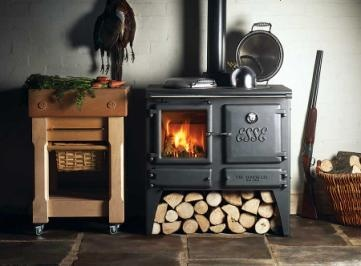 Super-efficient woodstove/hot water heater/cookstove combo - and handsome to boot!
