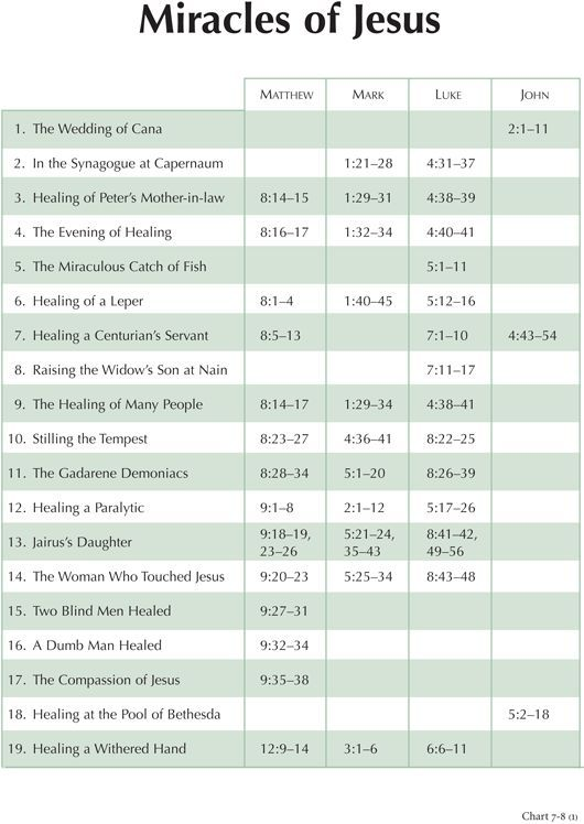 Charting the New Testament - Miracles of Jesus   BYU Studies