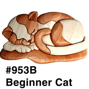 Kathy Wise Intarsia designs Beginner cat