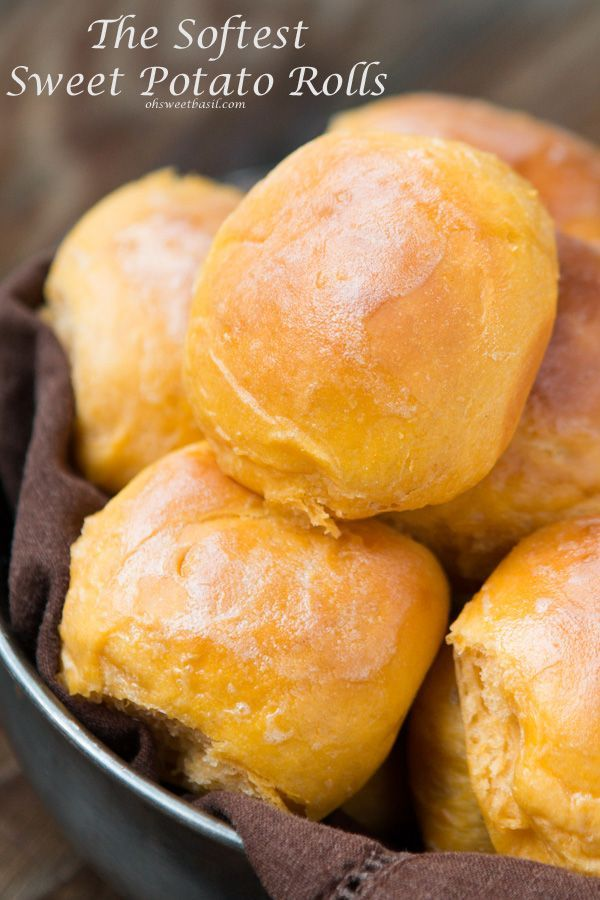 My New Obsession- The BEST Sweet Potato Rolls! Ohsweetbasil.com