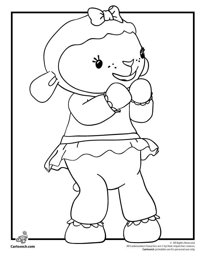 Doc McStuffins Coloring Pages Plus She Is A Great Role Model Lambie The Lamb