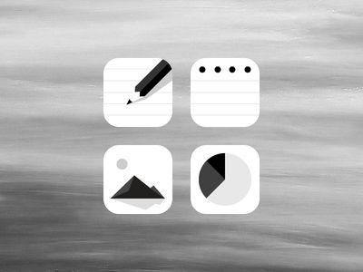Suite icons 灰色的阴影很漂亮