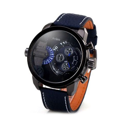 Brandfashion Online | Fashion and Accessories for Everyday - Military Quartz Watch with Double Movement Leather Band, $42.00 (http://www.lavendibags.com/military-quartz-watch-with-double-movement-leather-band/)