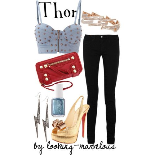 avengers inspired outfit cute but I think crop tops are skanky-CH
