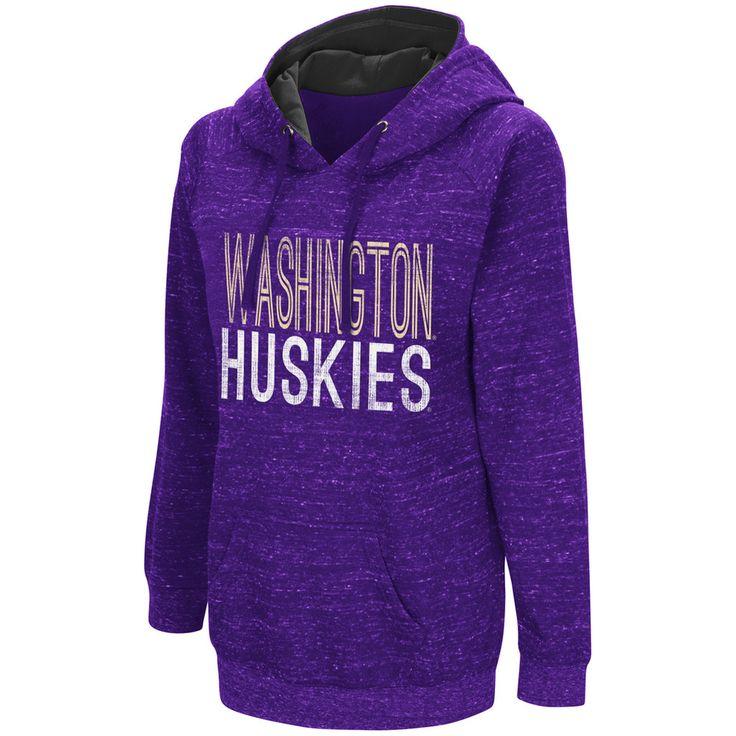 Women's Campus Heritage Washington Huskies Throw-Back Pullover Hoodie, Size: Medium, Drk Purple