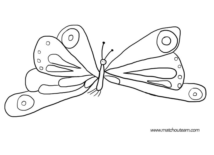 printable eric carle butterfly coloring pages | 168 best Cuentos - The Very Hungry Caterpillar (Crafts ...