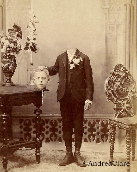 bizarre vintage headless photos