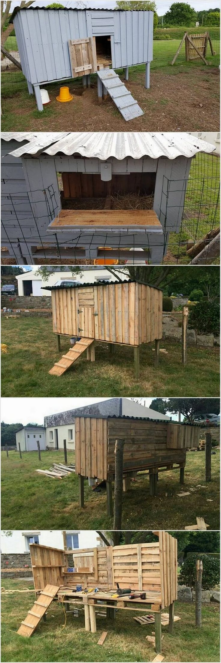 Chicken Coop Made Out of Shipping Wood Pallets