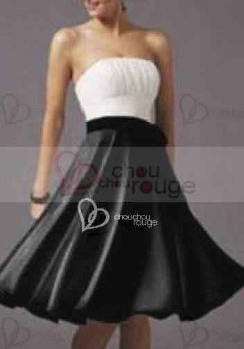 ELEGANTE VESTIDO DE BLANCO Y NEGRO BUSTIER NIVEL DE BUSTO PLISADO http://www.vestidofiesta.es/elegante-vestido-balco-negro-498.html