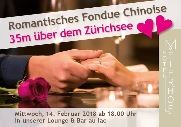 A romantic Candle-Light-Dinner on Valentine's Day inclusive a stunning view - 35m above the lake of Zurich! #RIMC #Meierhof #Zurich #romantic #candlelight #dinner #lake #view #ValentinesDay #ValentinesDay2018 #Hotel #Switzerland