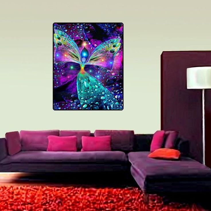 "Large Angel Tapestry, Reiki Healing Chakra Decor ""Bubbles of Clearing"" - product images  of"