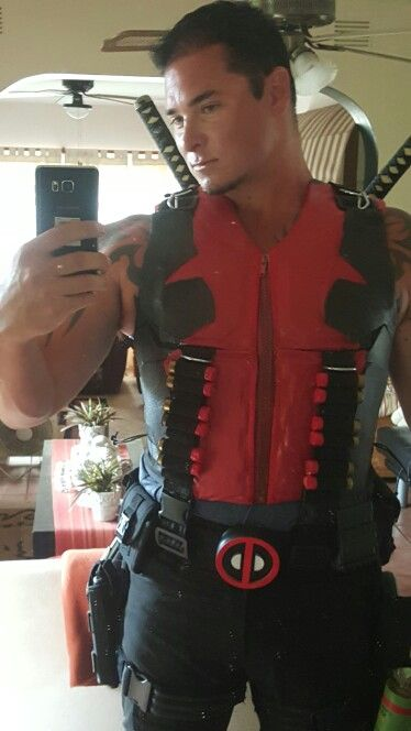 Deadpool cosplay load baring jacket with swords for south Africa rage event