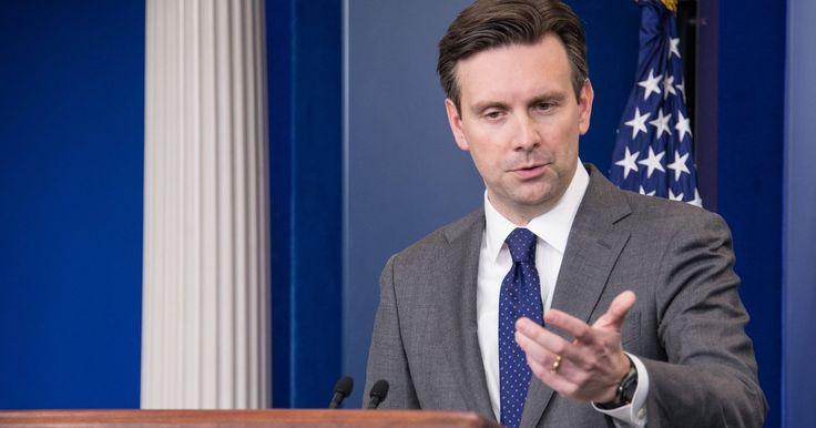 "Press Secretary Josh Earnest said Trump's campaign had a ""dustbin of history"" quality to it."
