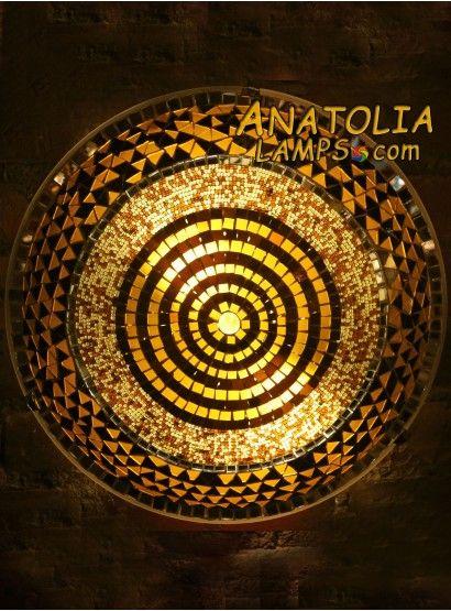 Turkish Mosaic Wall Lamp Big Sconce-10