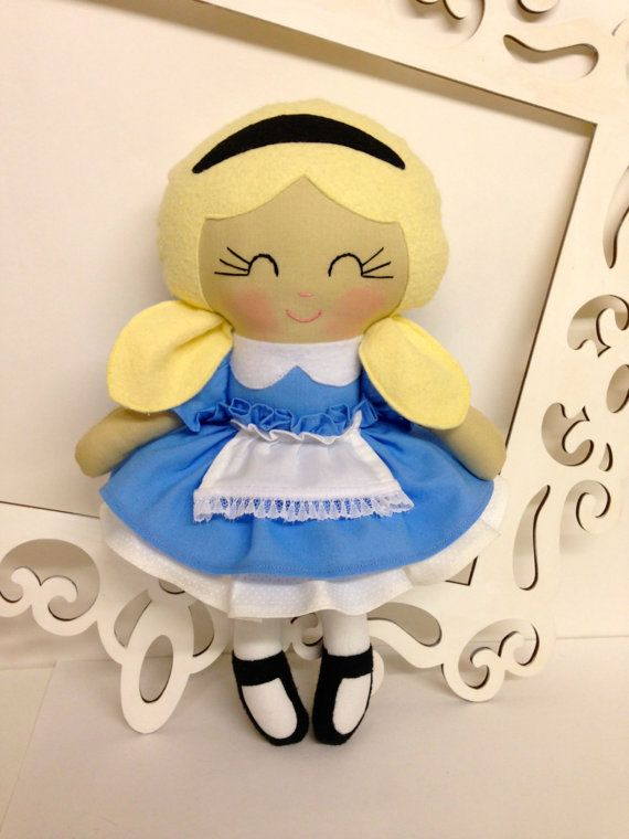 Alice in Wonderland doll Alice doll Handmade by SewManyPretties, $50.00