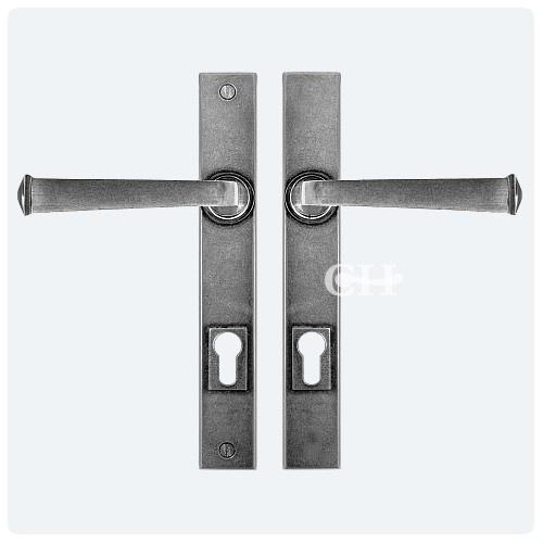 Pewter Multipoint Espagnolette Lever Door Handles