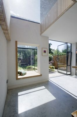 View of picture window, House for Two Artists, Gort Scott Architects