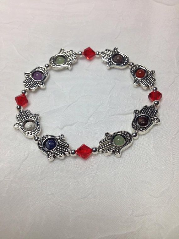 Hey, I found this really awesome Etsy listing at https://www.etsy.com/listing/194087780/chakra-hamsa-bracelet