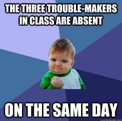 Teacher humor: it's like a Christmas present when this happens!!