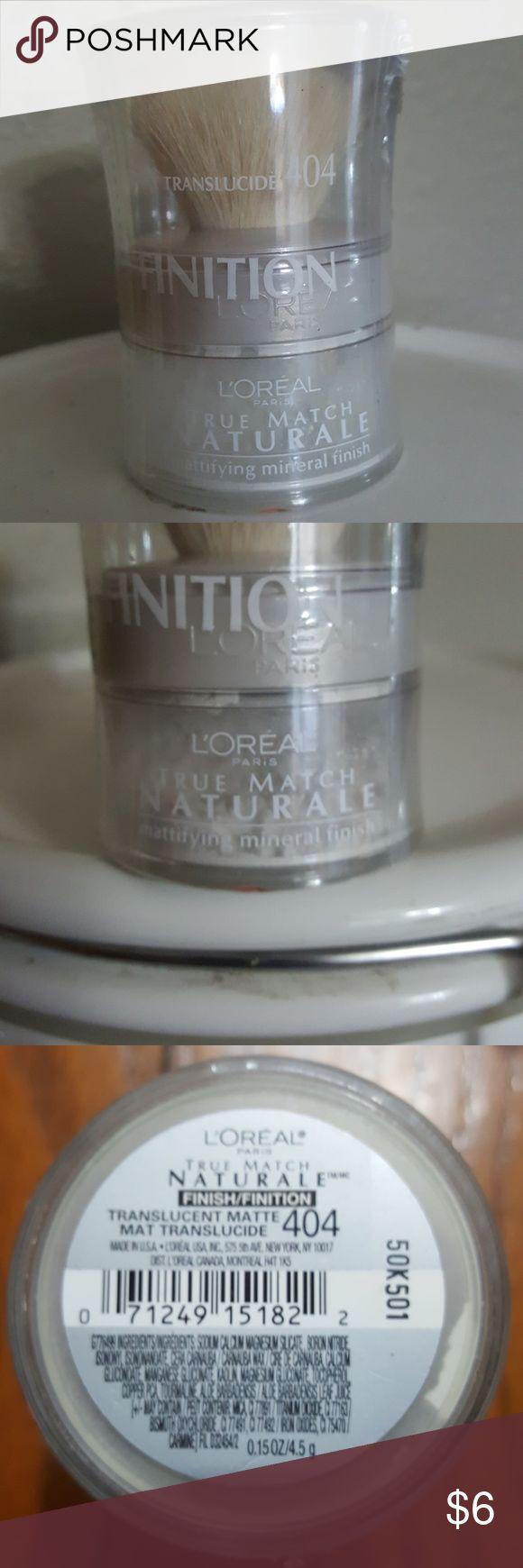 L'Oreal Paris True Match Powder NWOT, never opened.  This is L'oreal Paris true match naturale mattifying mineral finish matte translucide 404.  It is still factory sealed. L'Oreal Makeup Face Powder