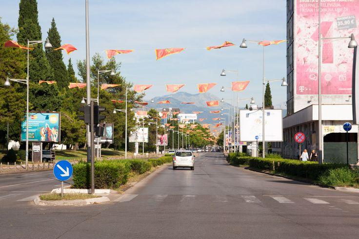Podgorica. Flags flapping in the wind were a cute touch   Podgorica. Vlaječky plápolající ve větru jsou super detail
