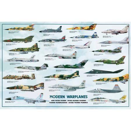 Modern Warplanes Educational Chart