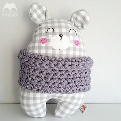 Handmade Grey Teddy