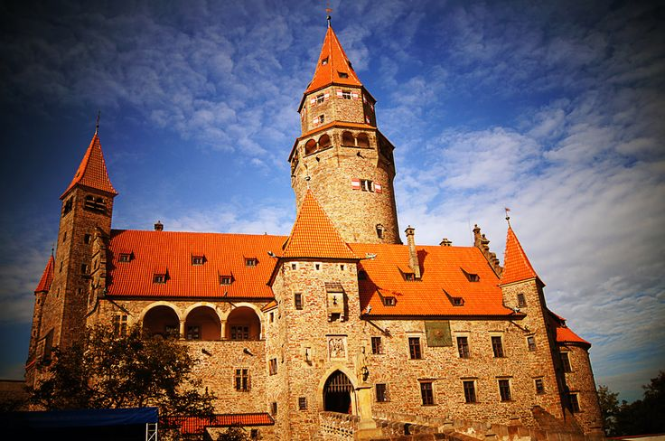 Bouzov - romantic Moravian castle.