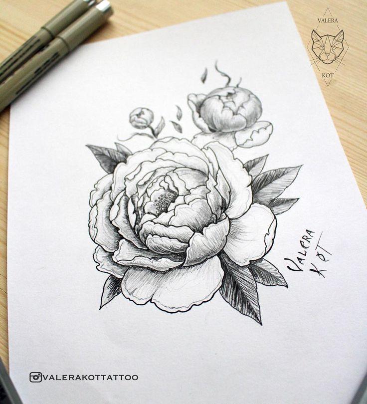 sketch peony - sleeve                                                                                                                                                                                 More