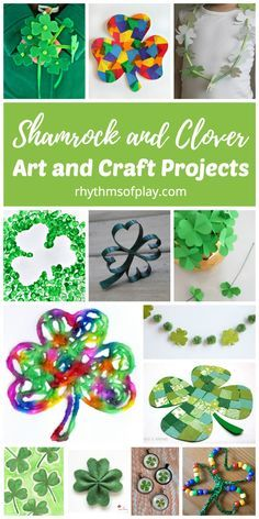 Shamrock And Four Leaf Clover Art And Craft Projects St Pats Day