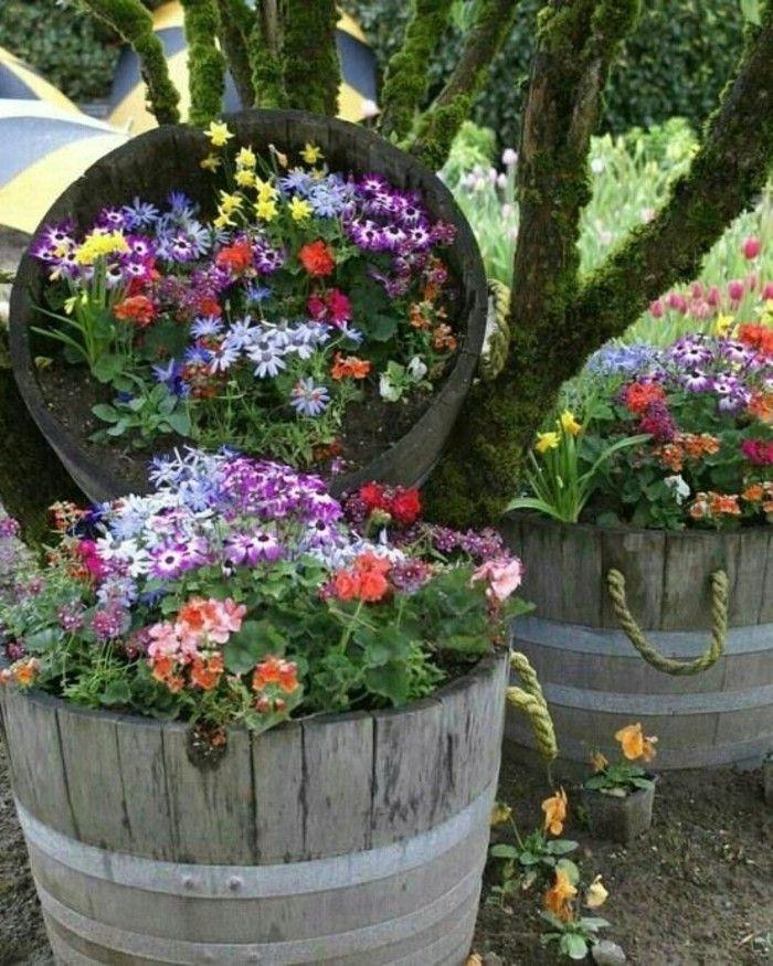 Gartendeko Basteln Naturmaterialien 35 Beispiele Wie Sie Den Garten Aufpeppen Vintage Gartendekoration Gartencontainer Topf Und Kubelpflanzen