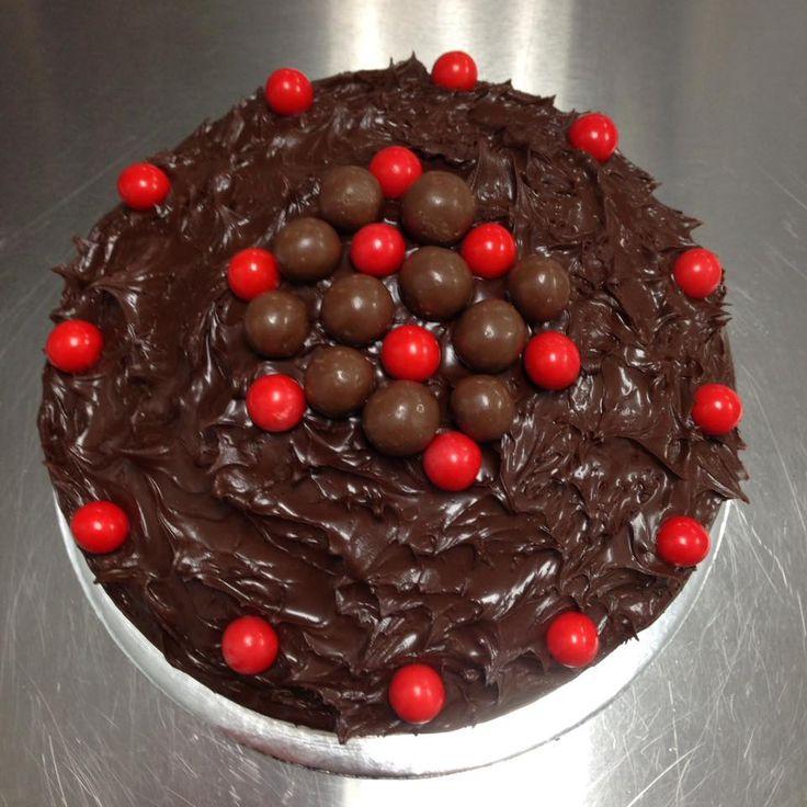 Chocolate Cake with Chocolate Truffle, Jaffas & Maltesers decorated by Coast Cakes Ltd