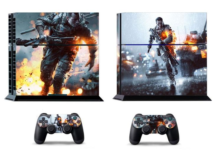 FREE SHIPPING! PS4 Battlefield 4 Decal Stickers For Sony Playstation 4 Console  Sticks