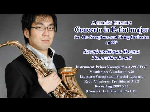 Concerto for Alto Saxophone and String Orchestra(Alexander Glazunov)