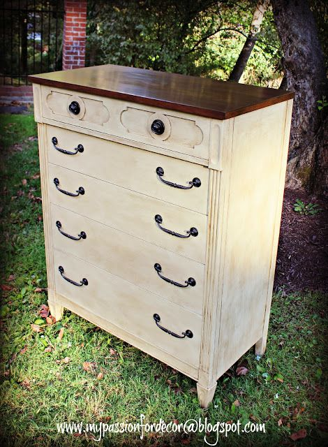 1960's dresser brought back to life.  Absolutely gorgeous!  Look at before/after pictures!  My Passion For Decor