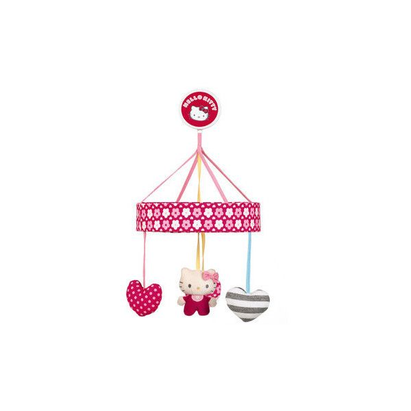 Hello Kitty Hello Baby Cot Mobile ($27) ❤ liked on Polyvore featuring baby stuff, baby, baby girl and hello kitty