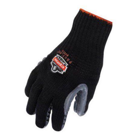 Ergodyne Medium Black ProFlex 9000 Full Finger Chloroprene Rubber Anti-Vibration Gloves With Elastic Cuff, Unique Chloroprene Rubber Palm Pad