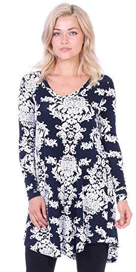 3a802fa8d99 Popana Women s Tunic Tops for Leggings Long Sleeve Shirt Plus Size Made in  USA.  amazonus  amazon  tunics  wintertunics  christmas  christmasshopping  ...