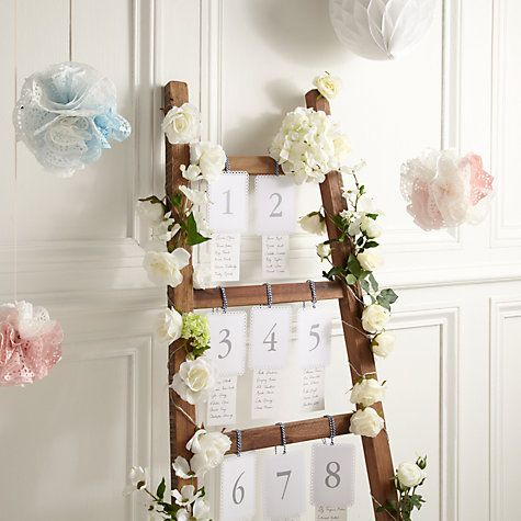 Buy How to make a ladder table plan Online at johnlewis.com could use pictures  hang off ladder