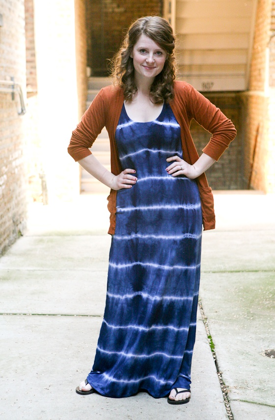true bias: TUTORIAL : TIE DYE MAXI