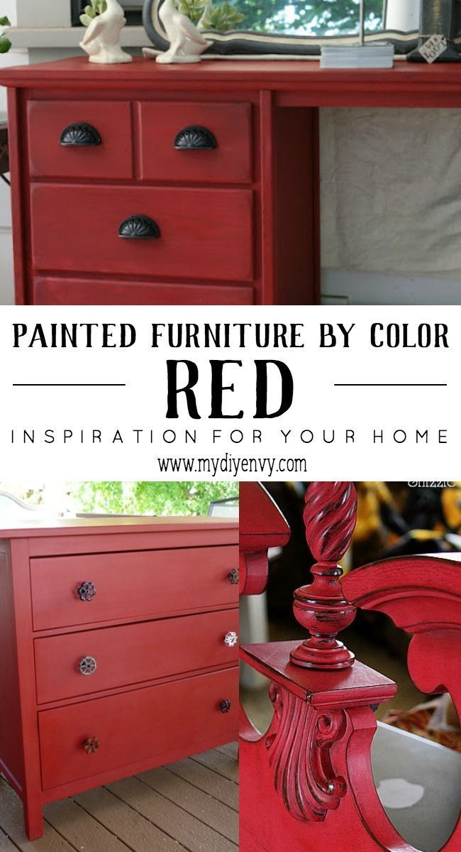 Painted furniture ideas | red painted furniture | Tips for painting furniture | http://www.mydiyenvy.com